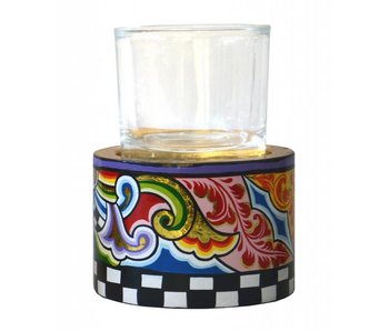 Toms Drag Candleholder T-light with glass - MM