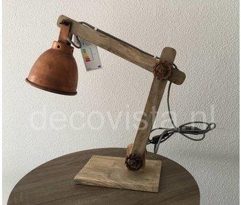 Moos Bureaulamp, industrieel - koper