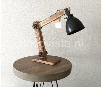 Moos Bureaulamp, industrieel, zwart