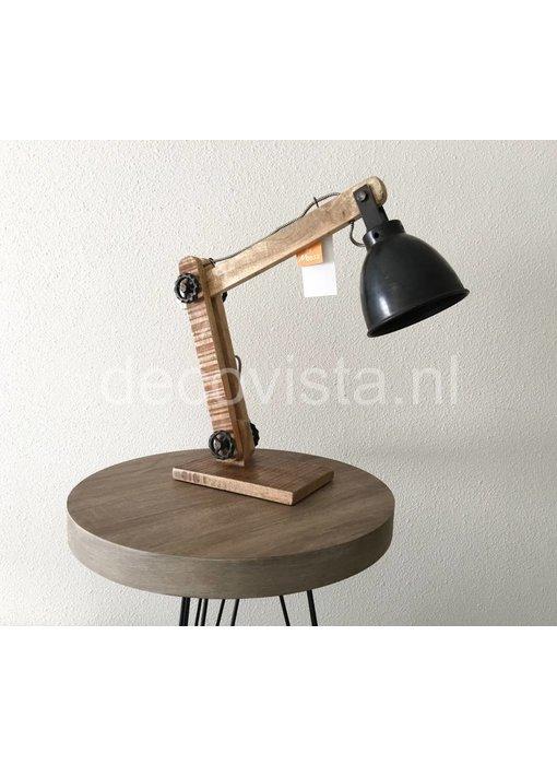 Moos Schreibtischlampe, industriell,  schwarz