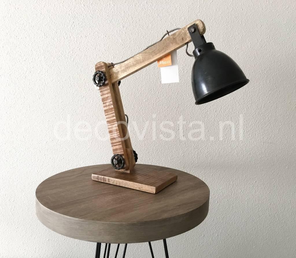 industrial desk lamp. Moos Industrial Table Lamp Or Desk Lamp, Wood L