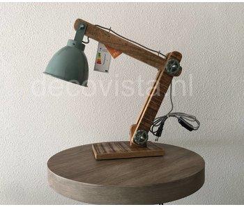 Moos Bureaulamp, industrieel - groen