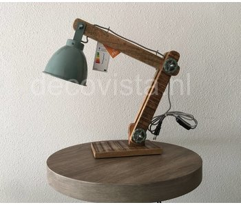 Moos Desk lamp, industrial - green