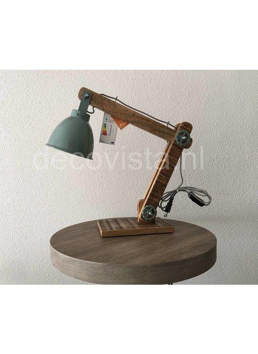 Moos Tafellamp, bureaulamp, industrieel - groen