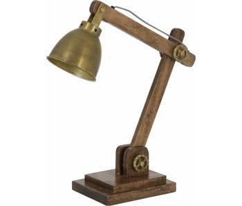 Dutch-LL Schreibtischlampe, Vintage Bronze