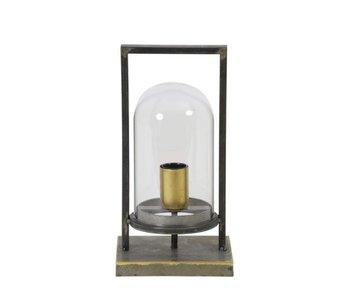 Dutch-LL Linterna lámpara Cage - bronce antiguo - M