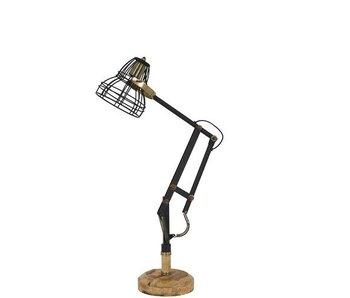 Dutch-LL Bureaulamp metaal, retro zwart