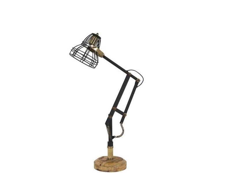 Dutch-LL Industriële retro bureaulamp  zwart