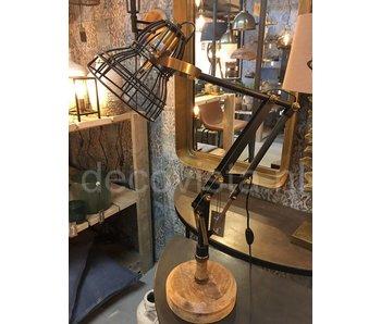 Dutch-LL Desk lamp metal, retro  black