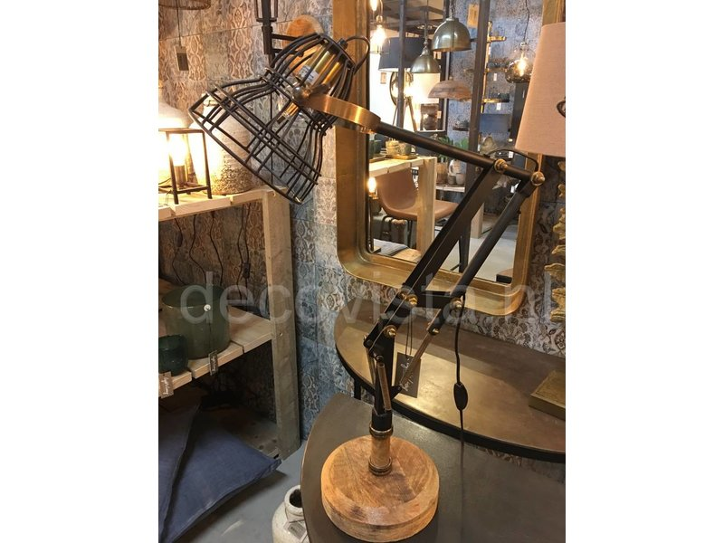 Dutch-LL Industrial retro desk lamp - black