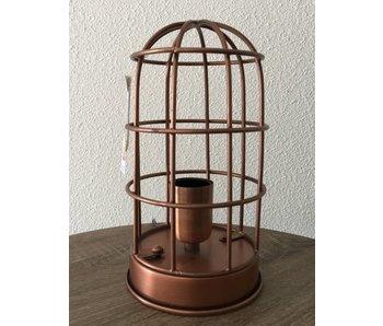 Dutch-LL Lámpara de jaula, lámpara de mesa de cobre antiguo