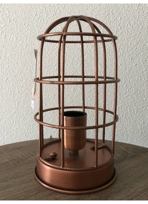 Dutch-LL Cage lamp, table lamp antique copper