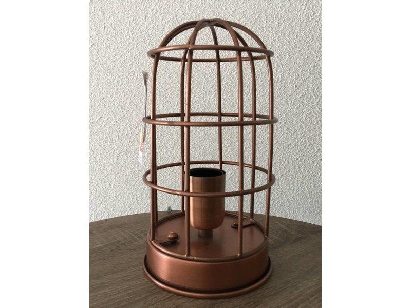de cobre de jaulalámpara antiguo de mesa Lámpara 5RL4Aj