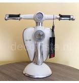 Tafellamp retro scooter wit Lambretta