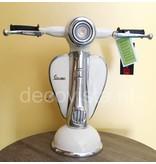 Tafellamp retro Vespa scooter, wit