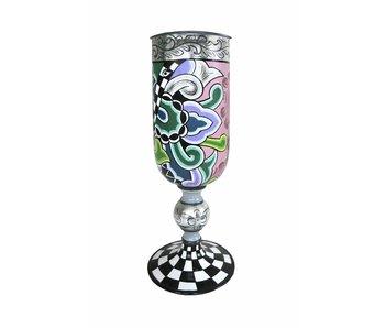 Toms Drag Vase  or cup, Silver Line - M
