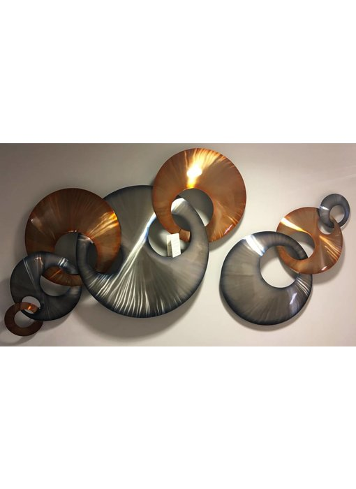 C. Jeré Wall  sculpture Interlink - stainless steel
