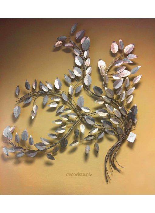 C. Jeré Wall sculpture Platinum Leaves