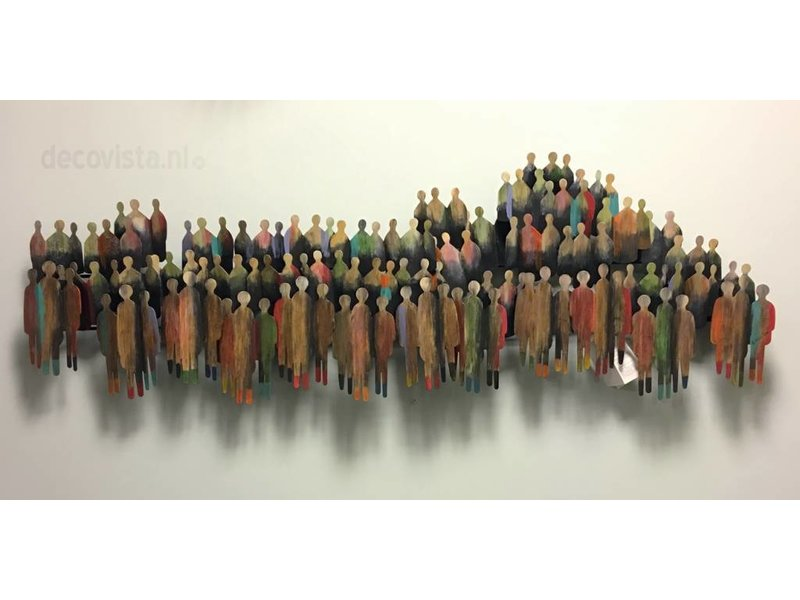 C. Jeré - Artisan House Multitude, a group of people - steel wall decoration