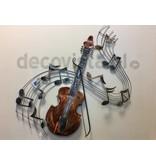 Wall decoration singing violin