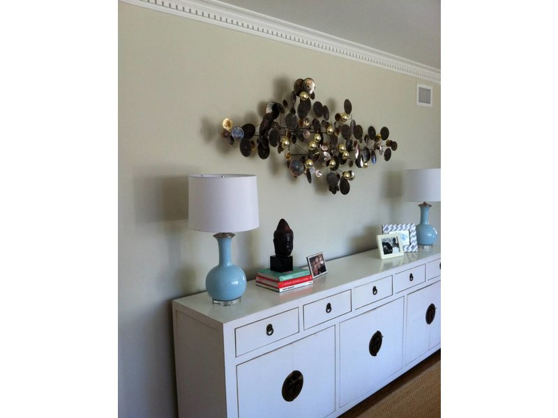 C. Jeré - Artisan House metalen wanddecoratie Raindrops Brass, C. Jeré Artisan House