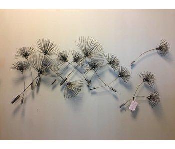 C. Jeré - Artisan House Dandelions Escultura de metal de arte de la pared