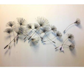 C. Jeré Dandelions Escultura de metal de arte de la pared