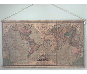 Wanddoek op roeden - Hemisferen Aarde