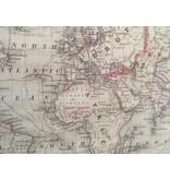 Wanddoek VIntage Mercator Projectie - wereldkaart