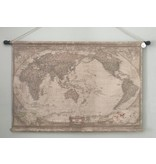 Wall cloth in vintage style - Globe the World