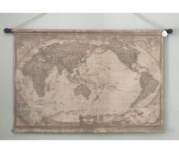 Wall cloth on wooden rods -  Globe the World