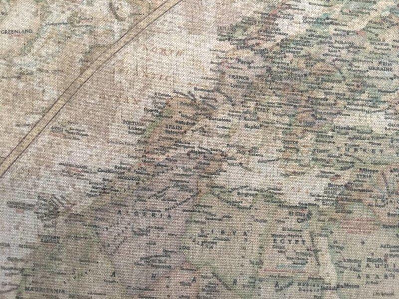 Wanddoek globe  Wereld