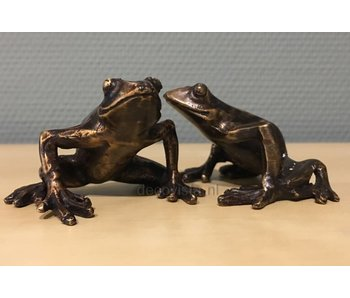 Tree frog set bronze