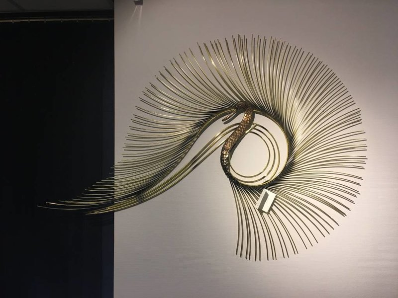 C. Jeré - Artisan House Swan wall art sculpture by C. Jeré