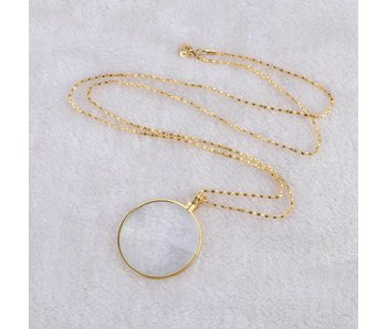 Magnifying glass pendant 5x