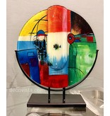 Moon-shaped glass vase Varietas round