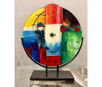 Glass vase Varietas, round