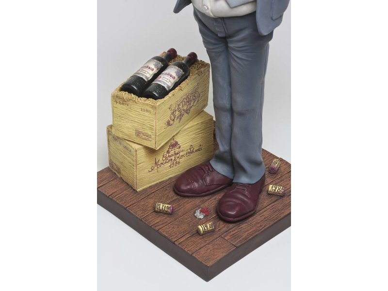 Forchino Karikatuur beeld De wijnproever