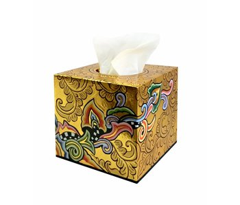 Toms Drag Tissue-Box quadratisch, gold