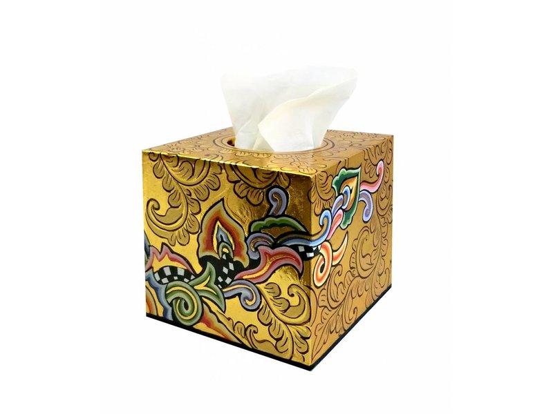 Toms Drag Tissue box square, gold