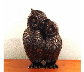 Owl couple, bronze