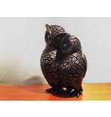 Uilenbeeldje, uilenpaar van brons