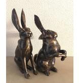 Pair of hares, bronze