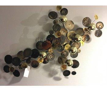 C. Jeré Wall art sculpture Raindrops  brass -Small