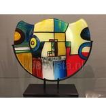 Decoratieve glas vaas  Pop-art, hemispherical