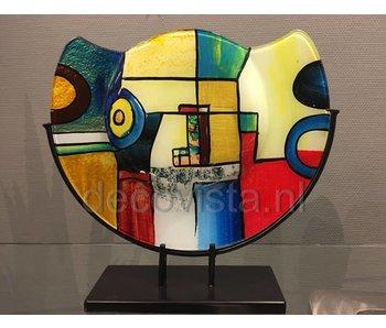 Glazen vaas  Pop-Art, halfrond