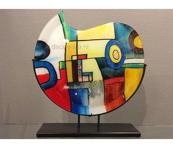 Glazen vaas Pop-Art, model maan