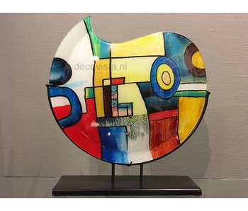 Jarrón de vidrio Pop-Art, modelo luna