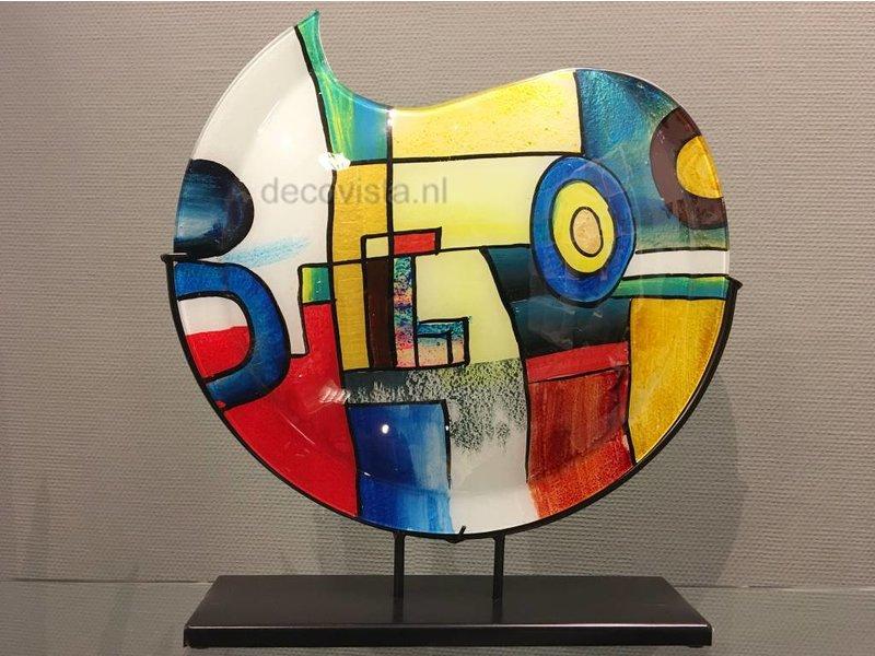 Glass vase Pop-Art, model moon