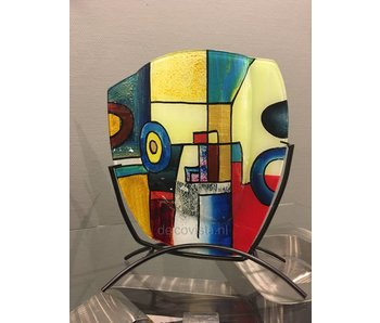Glazen vaas Pop-Art, a-symm